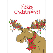 Load image into Gallery viewer, Merry Christmoose Christmas Greeting Card 4 pack