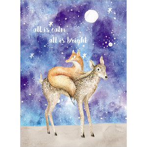 Calm And Bright Christmas Greeting Card 4 pack