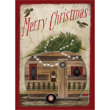 Load image into Gallery viewer, Rustic Camper Christmas Christmas Greeting Card 4 pack