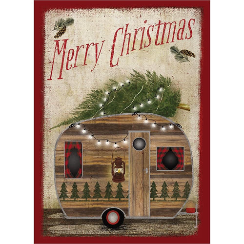 Send This Rustic Camper Christmas Christmas Card
