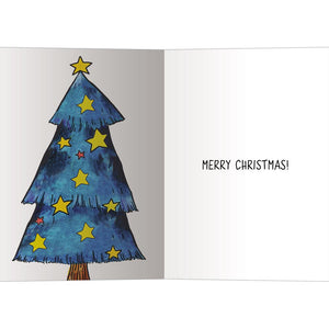 Tree-Mendous Christmas Greeting Card 4 pack