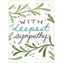 Load image into Gallery viewer, Deepest Sympathy Sympathy Greeting Card 6 pack