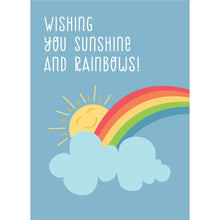 Load image into Gallery viewer, Sunshine And Rainbows All Occasion Greeting Card 6 pack