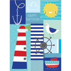 Load image into Gallery viewer, Coastal Birthday Birthday Greeting Card 6 pack
