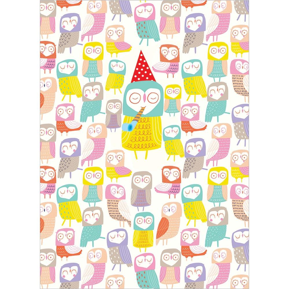 Owl Eyes On You Birthday Greeting Card 6 pack