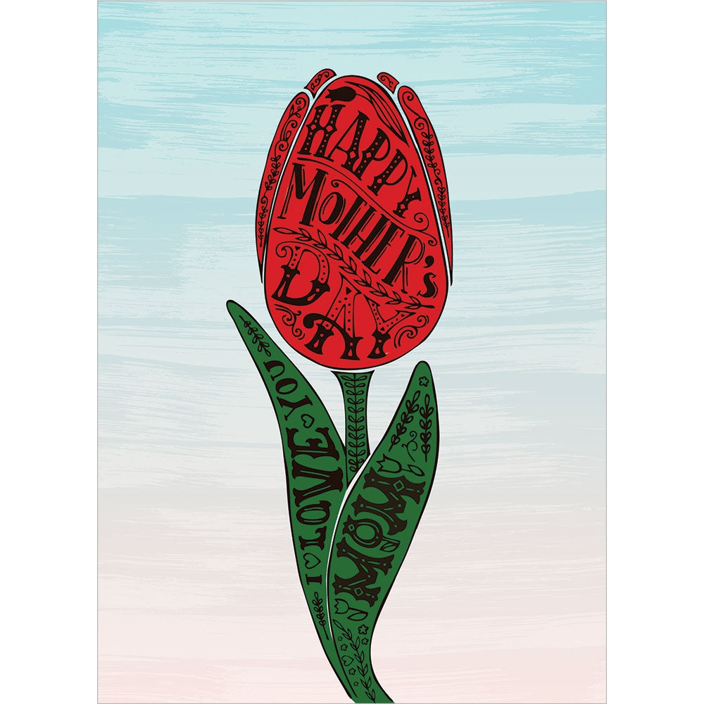 Tulip Tattoo Mother's Day Greeting Card 4 pack