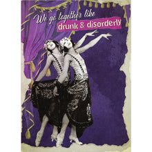 Load image into Gallery viewer, Drunk And Disorderly Friendship Greeting Card 6 pack