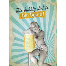 Load image into Gallery viewer, Bubbly Diet Birthday Greeting Card 6 pack