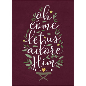 Adore Him Christmas Greeting Card 4 pack