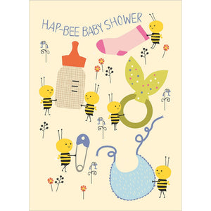 Ha-Bee Baby Shower Greeting Card 6 pack