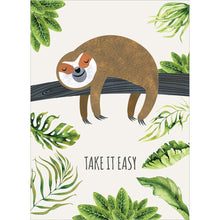 Load image into Gallery viewer, Sloth Slow Lane Get Well Greeting Card 6 pack