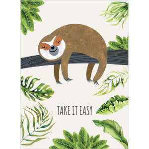 Sloth Slow Lane Get Well Greeting Card 6 pack