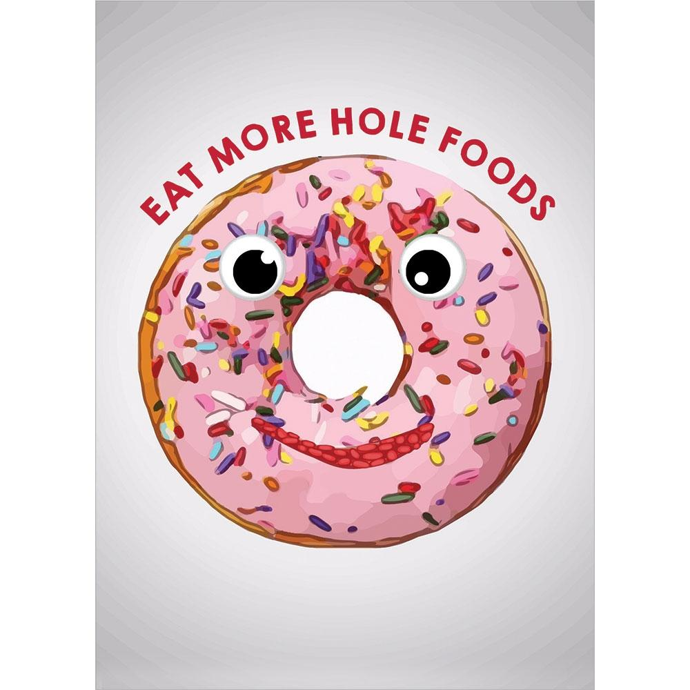 Hole Foods Birthday Greeting Card 6 pack