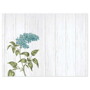 Blue Rustic Flowers All Occasion Greeting Card 6 pack