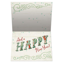 Load image into Gallery viewer, Merry Little Christmas Drawn Christmas Greeting Card 4 pack