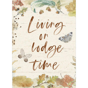 Living On Lodge Time Birthday Greeting Card 6 pack