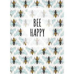 Bee Happy All Occasion Greeting Card 6 pack