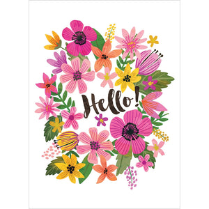 Hello All Occasion Greeting Card 6 pack