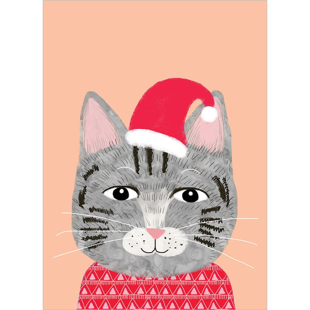 Meowy Christmas Christmas Greeting Card 4 pack