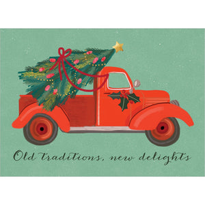 Christmas Tradition Christmas Greeting Card 4 pack