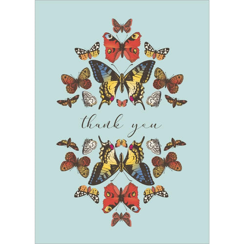 Send This Botanical Butterflies Thank You Card