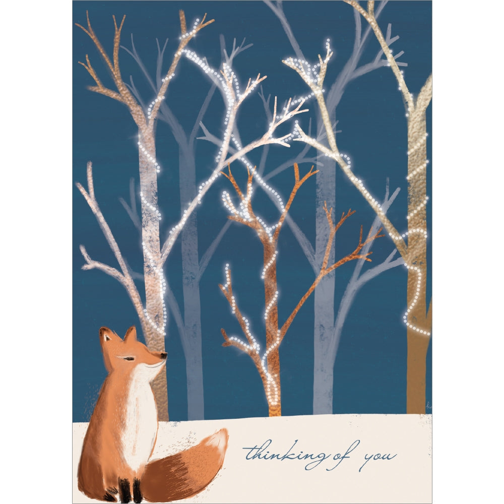 Calm Fox Holiday Holiday Greeting Card 4 pack
