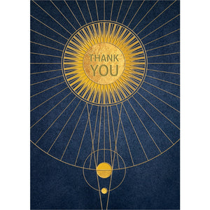 Solar Thanks Thank You Greeting Card 6 pack