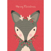 Load image into Gallery viewer, Deer Christmas Christmas Greeting Card 4 pack