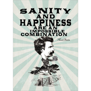 Sanity And Happiness Birthday Greeting Card 6 pack