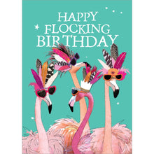 Load image into Gallery viewer, Flocking Birthday Birthday Greeting Card 6 pack