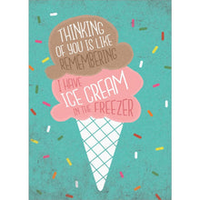 Load image into Gallery viewer, Freezer Ice Cream Birthday Greeting Card 6 pack
