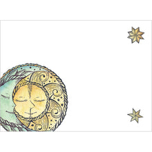 Load image into Gallery viewer, Sun Moon and Stars Birthday Greeting Card 6 pack