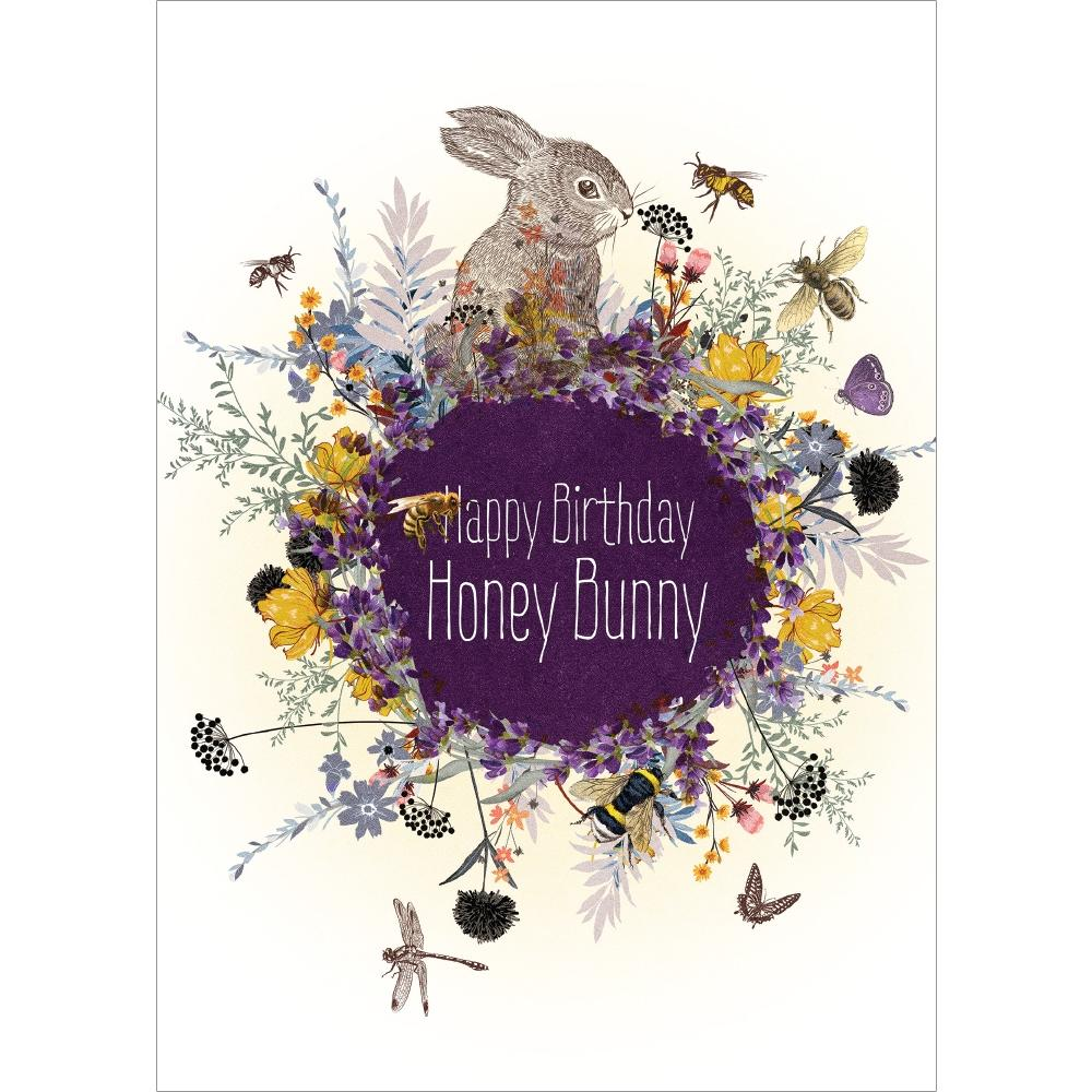 Honey Bunny Birthday Birthday Greeting Card 6 pack