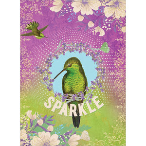 Sparkle Bird All Occasion Greeting Card 6 pack