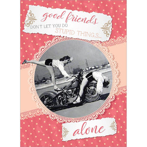Good Friends Birthday Greeting Card 6 pack