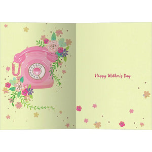 Mom Phone Mother's Day Greeting Card 4 pack