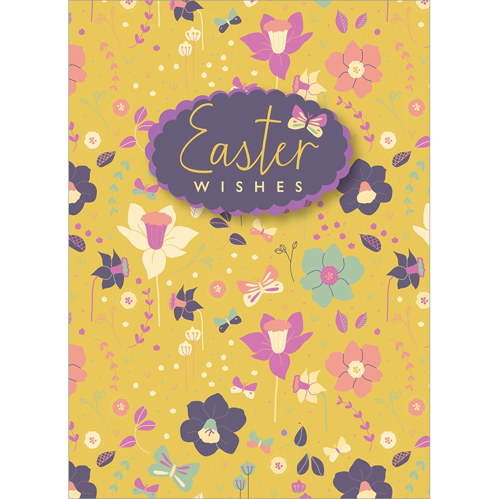 Easter Wishes Easter Greeting Card 4 pack
