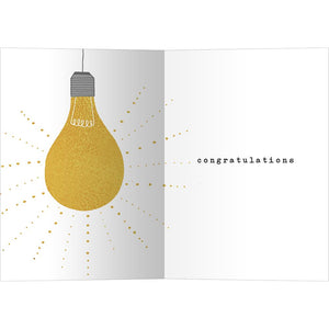 Shine Bright Graduation Greeting Card 4 pack