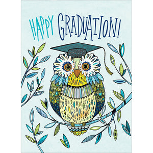 Graduation Owl Graduation Greeting Card 4 pack