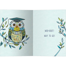 Load image into Gallery viewer, Graduation Owl Graduation Greeting Card 4 pack