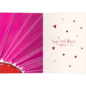 Bold Valentine Valentine's Day Greeting Card 4 pack