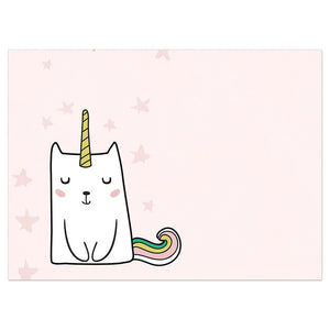 Magical Cat Unicorn Birthday Greeting Card 6 pack
