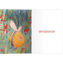Load image into Gallery viewer, Bees Knees Valentine's Day Greeting Card 4 pack