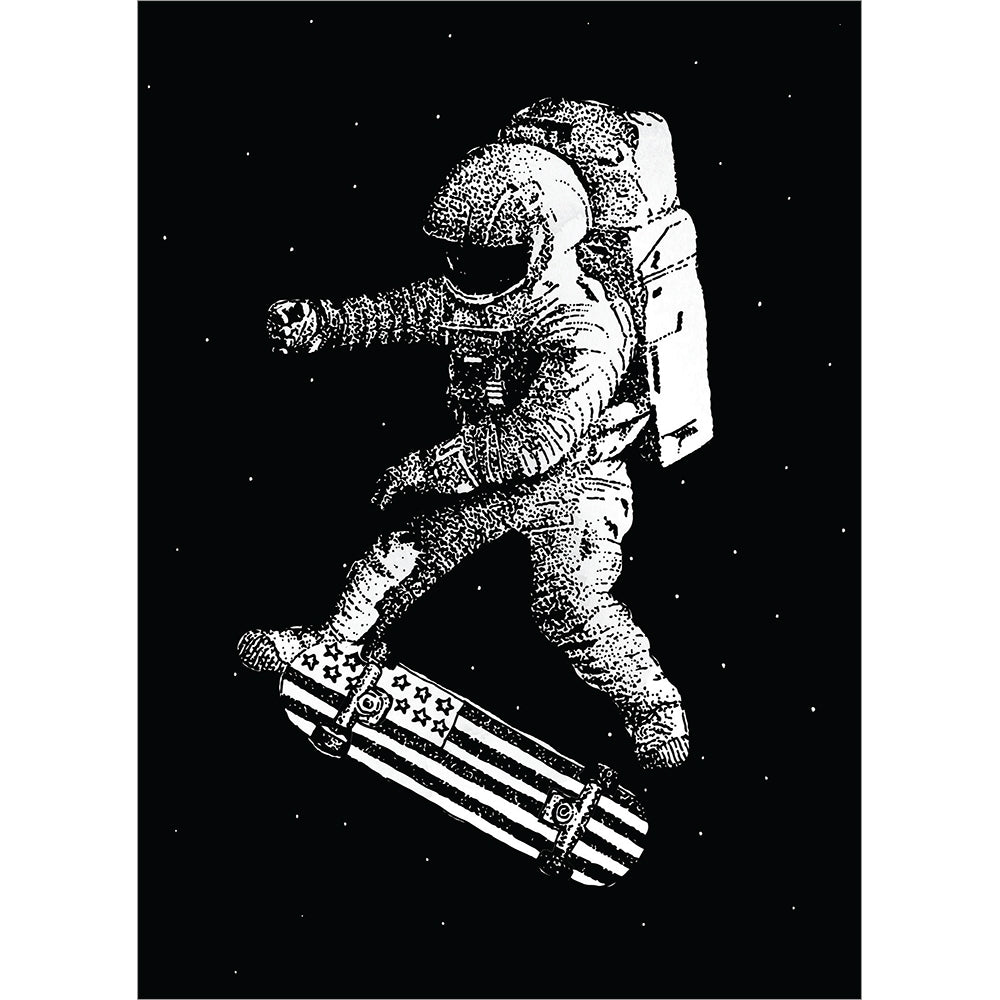 Skateboarding Astronaut Graduation Greeting Card 4 pack