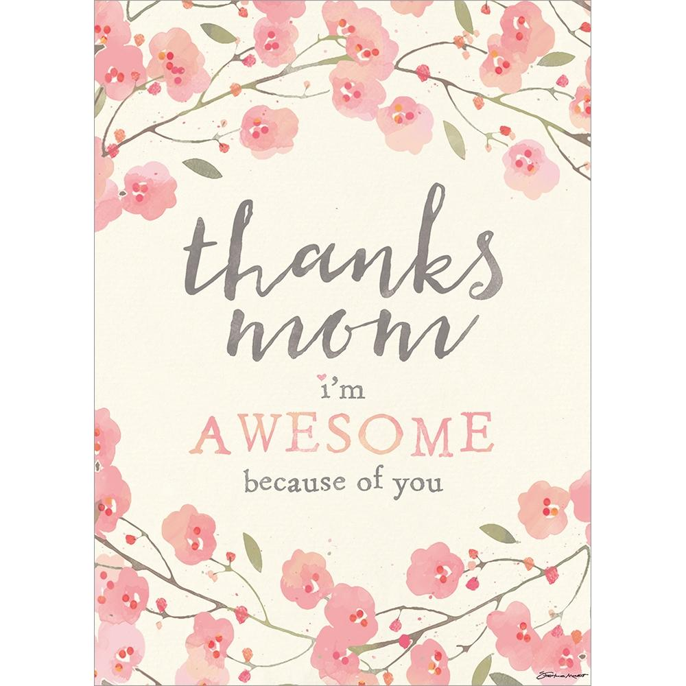 Send This Awesome Mom Floral Mother's Day Greeting Card
