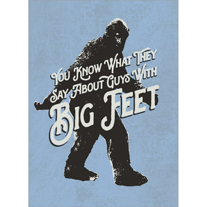 Big Feet Valentine's Day Greeting Card 4 pack