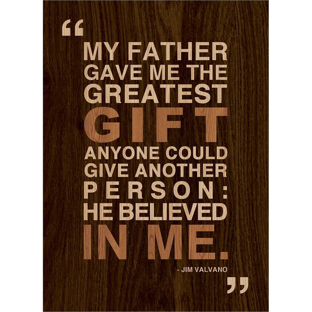 Greatest Gift Father's Day Greeting Card 4 pack