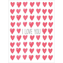 Load image into Gallery viewer, Send This Watercolor Hearts Valentine's Day Card