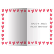 Load image into Gallery viewer, Watercolor Hearts Valentine's Day Greeting Card 4 pack