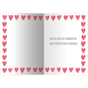 Watercolor Hearts Valentine's Day Greeting Card 4 pack
